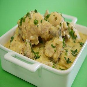 receita de Fricassé de frango